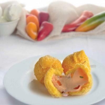 gemme-di-polenta-con-mozzarella-e-peperoni